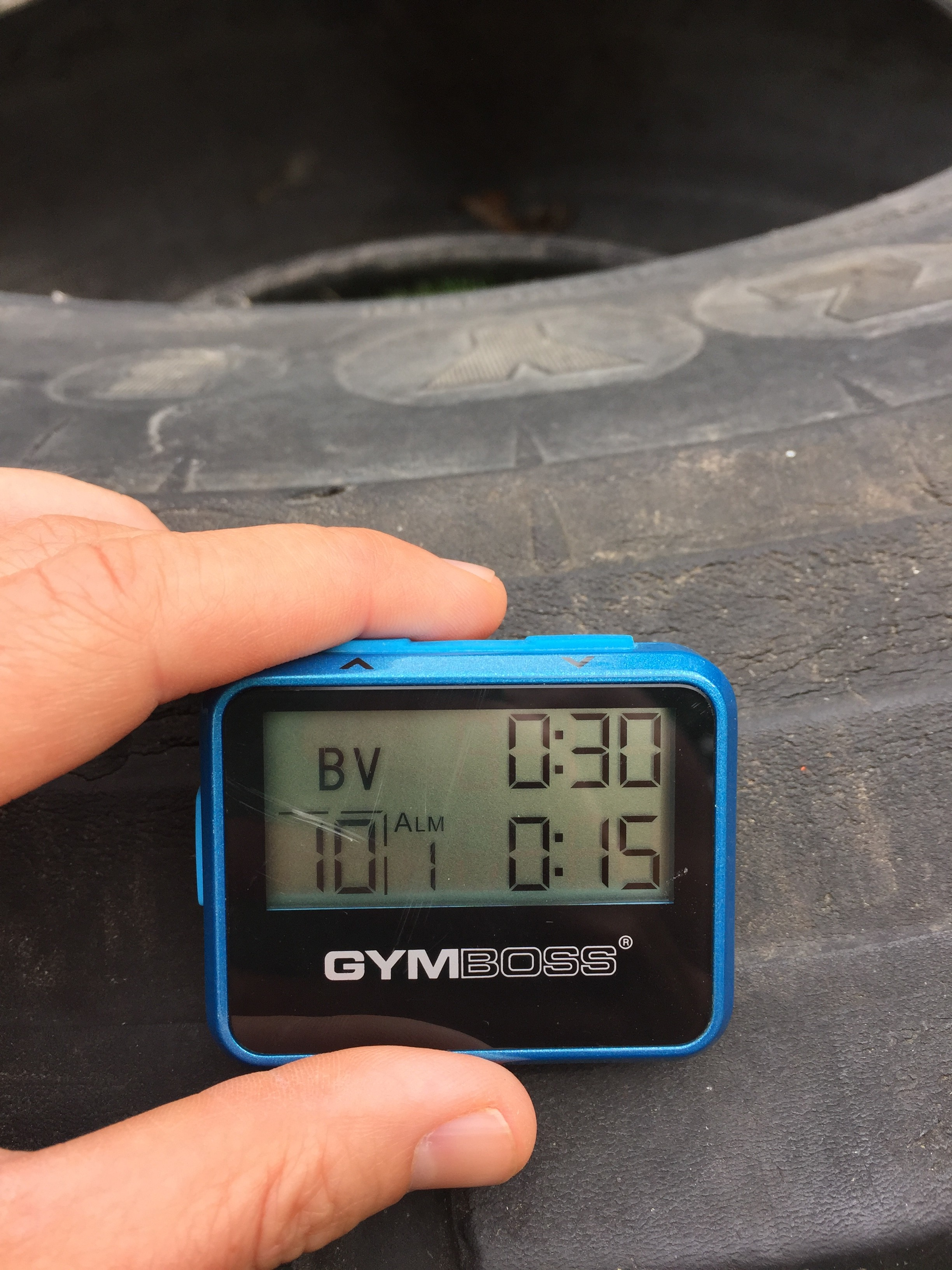 30 Minute Hiit Tire Circuit Workout Gymboss Blog Tabata Workouts Pinterest